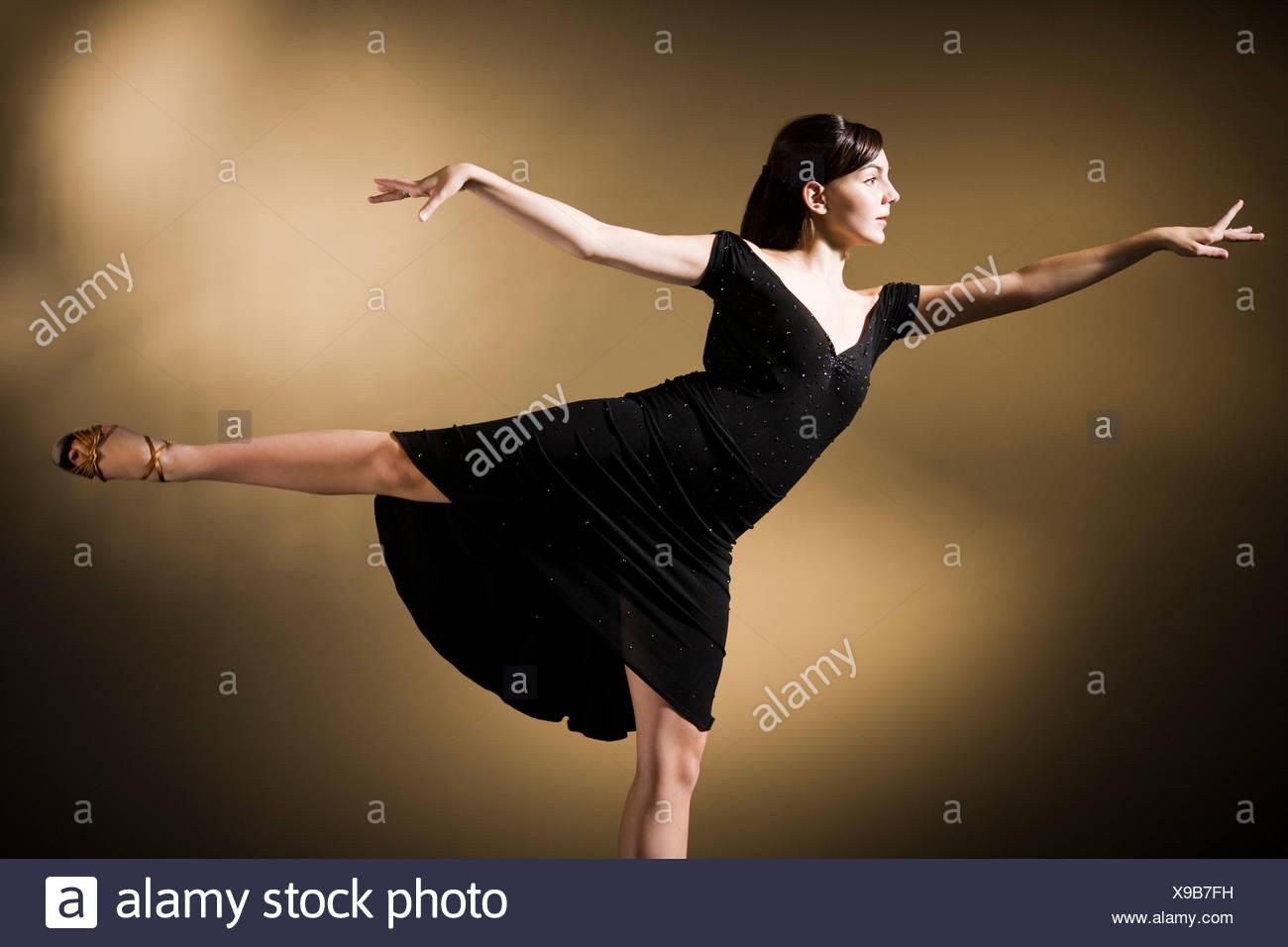 woman dancing - Stock Image