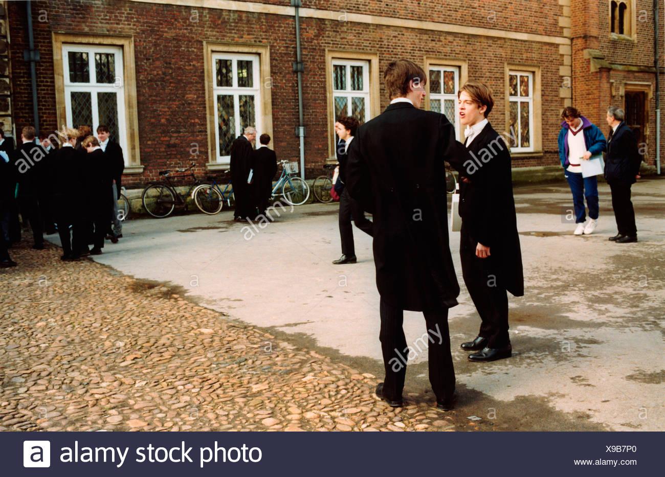 Pupils at Eton Public School UK - Stock Image