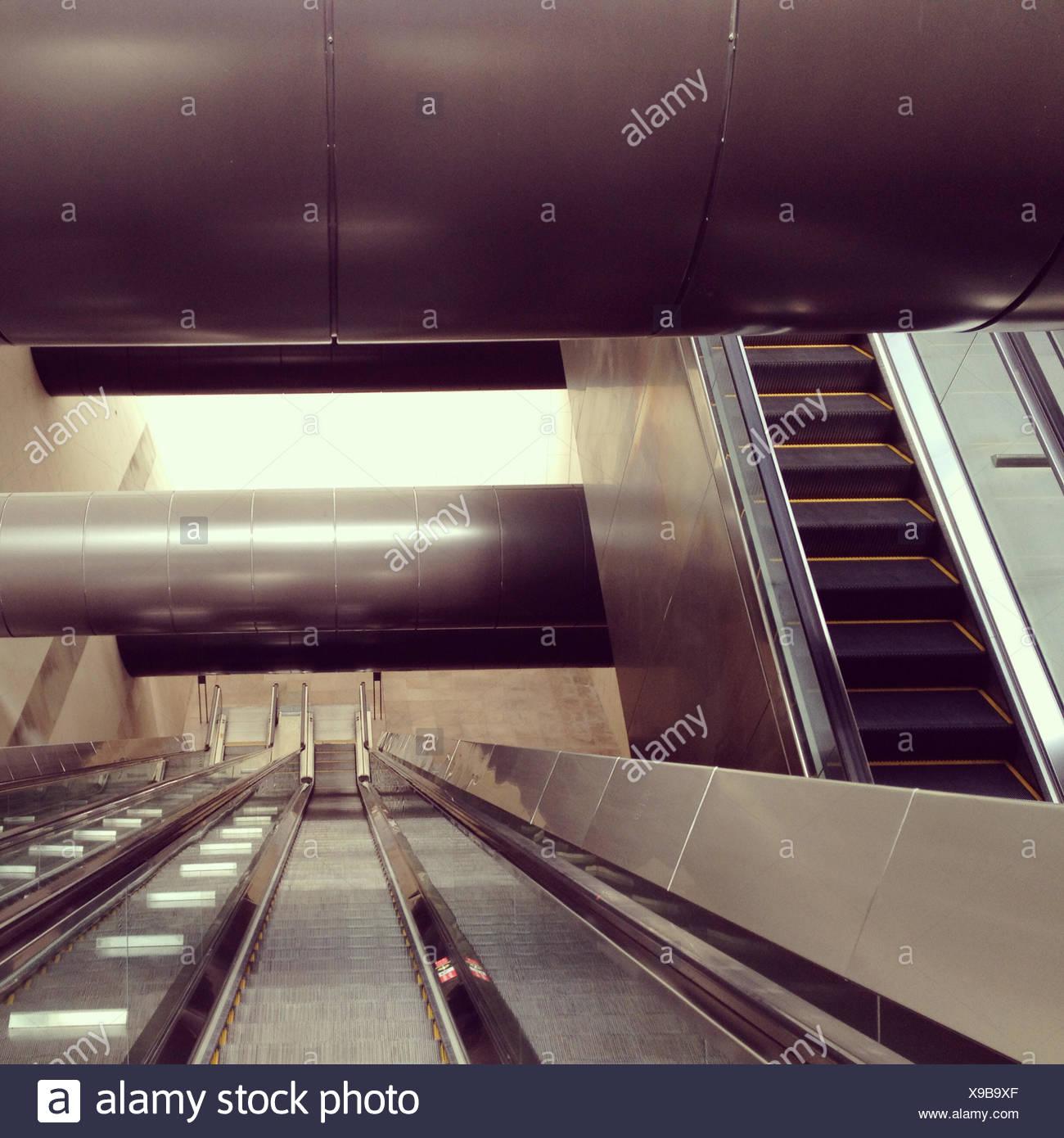 Singapore, Escalators - Stock Image