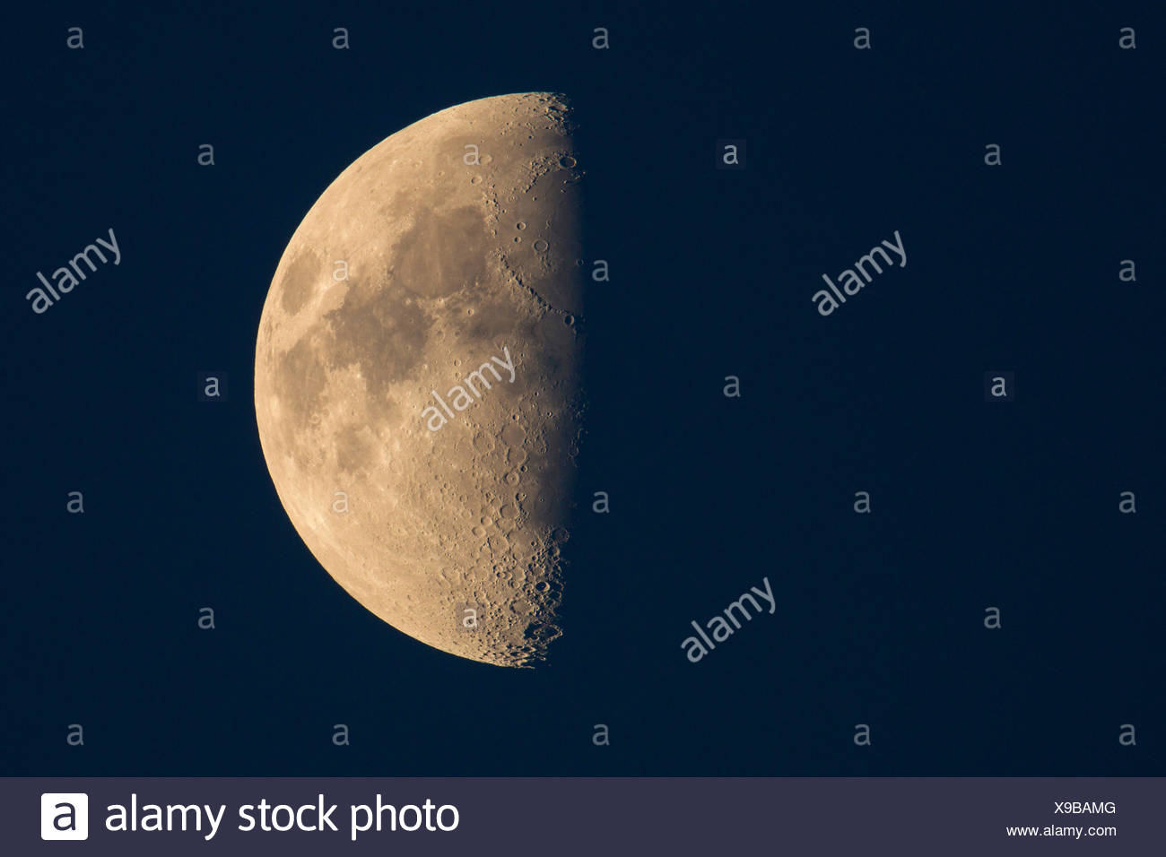 half moon, first quarter, Germany, Bavaria - Stock Image