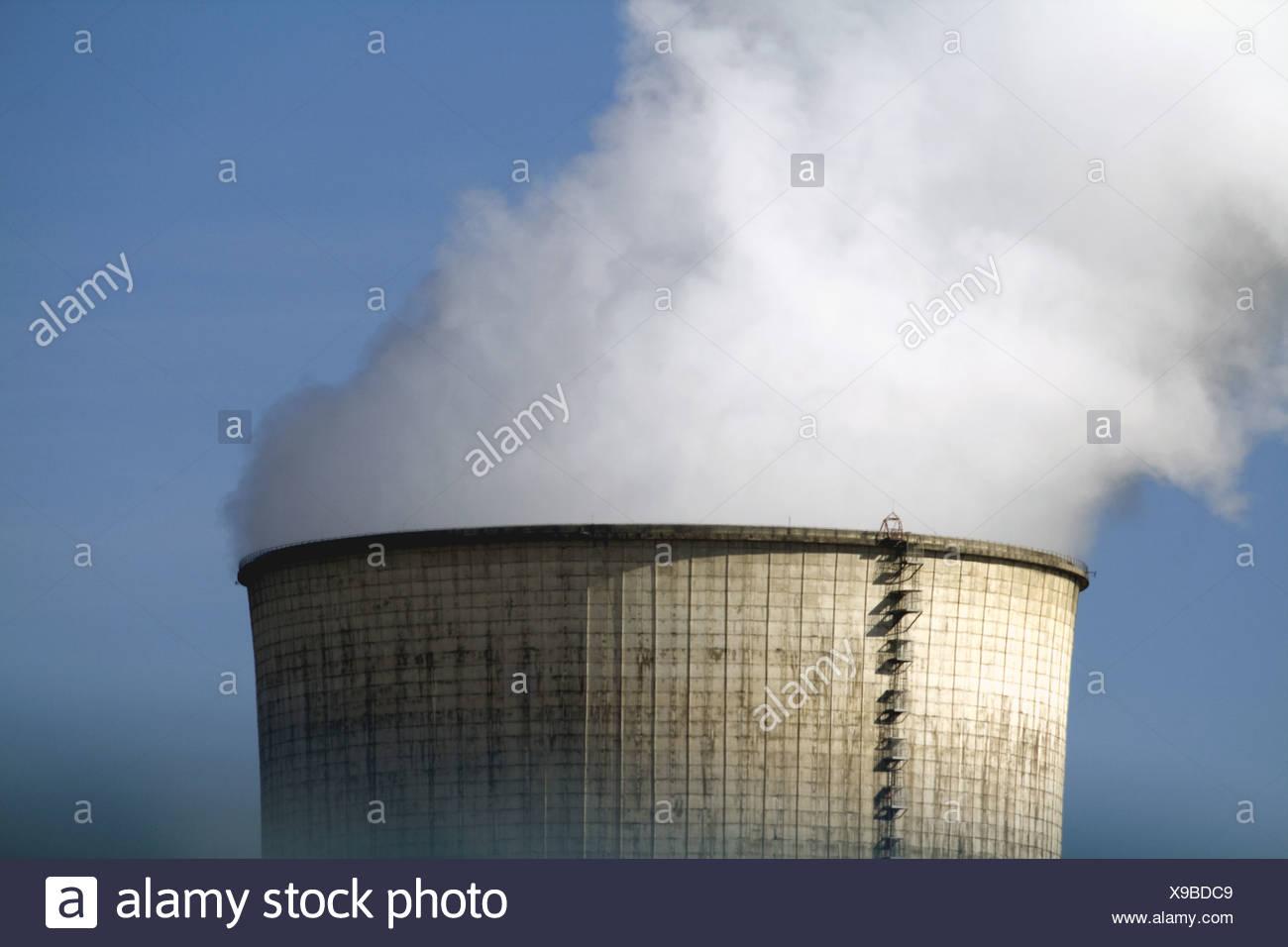 Atomic Power Plant, Cattenom, France - Stock Image