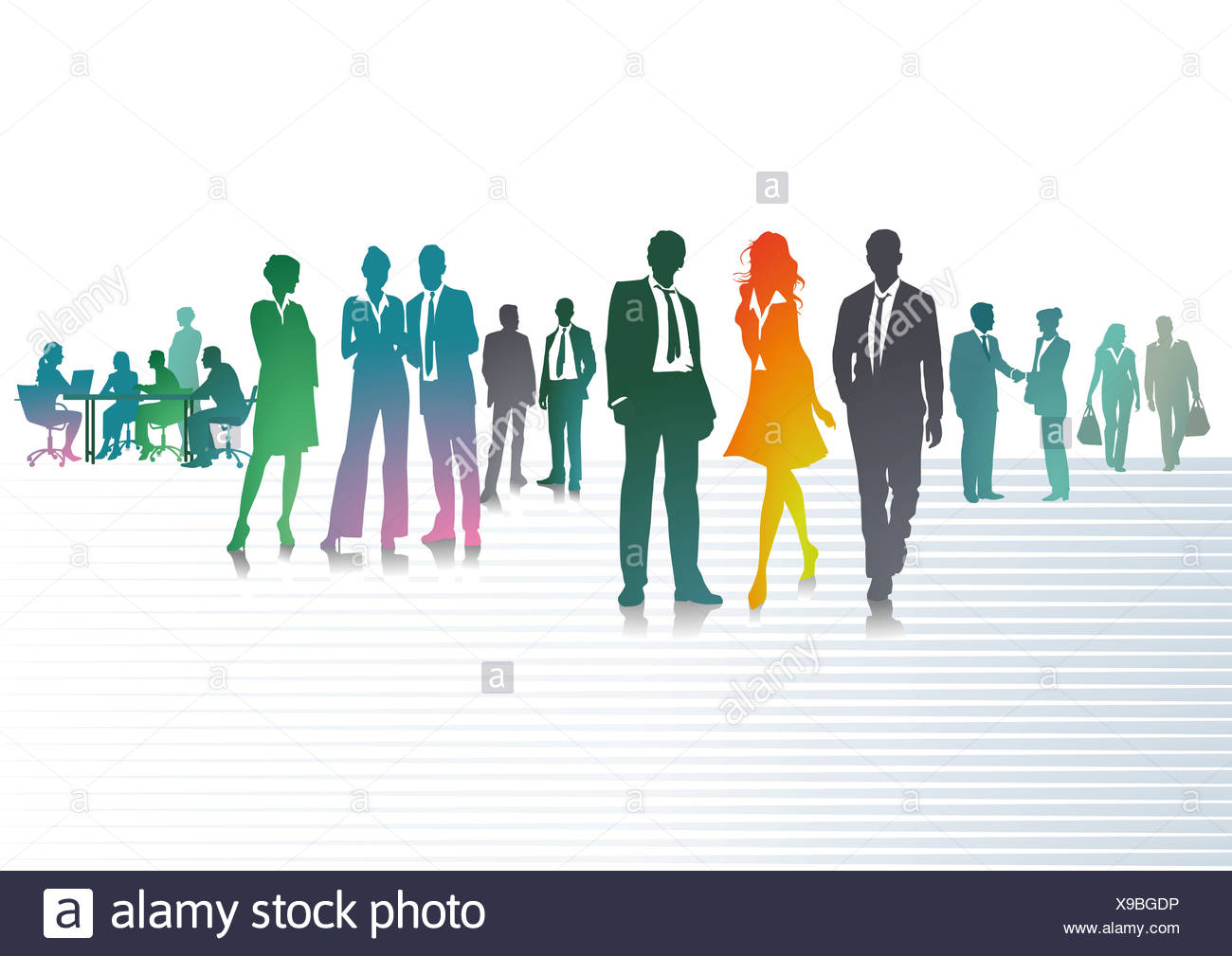 Colorful Businesspeople - Stock Image