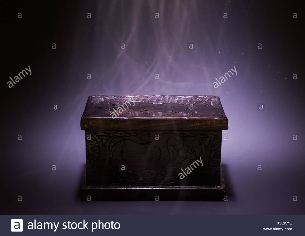 Magic Black Box - Stock Image