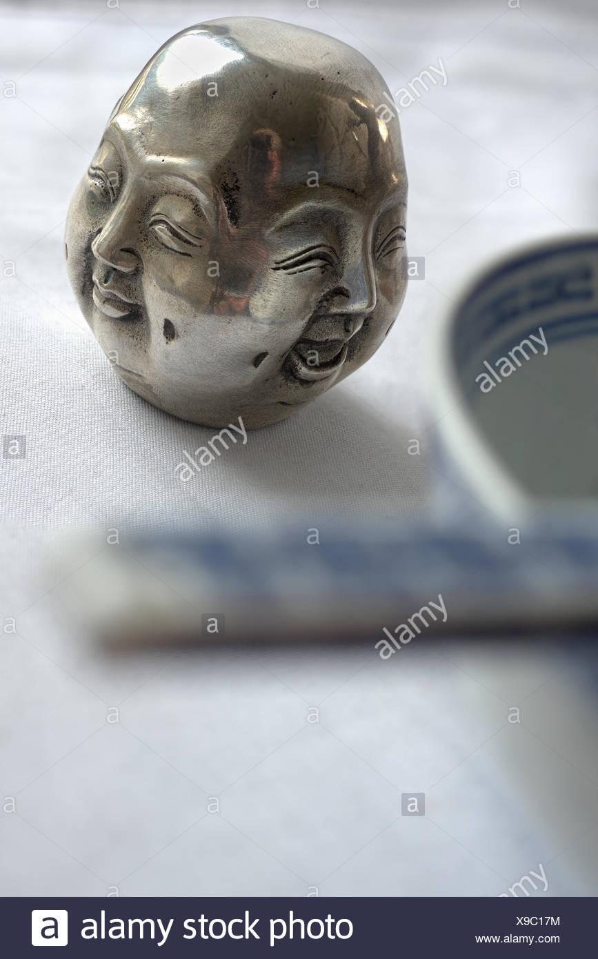Fourfaced buddha as decorative element - Stock Image
