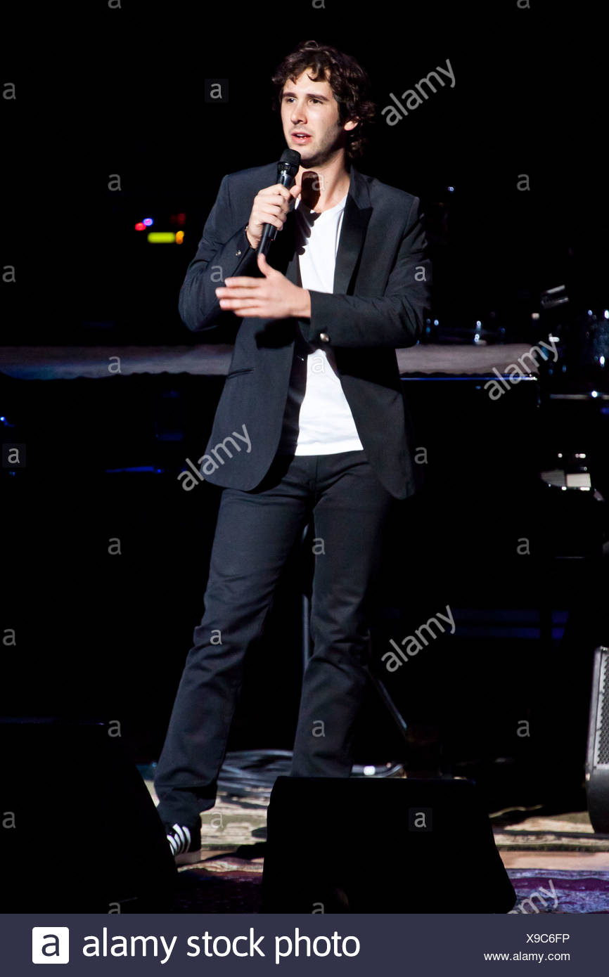 U.S. singer Josh Groban performing live in the concert hall of the KKL, Culture and Convention Centre, Lucerne, Switzerland - Stock Image