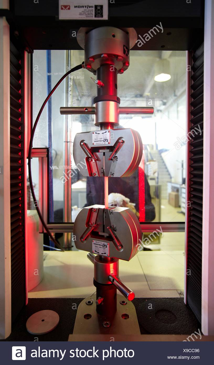 Tensile strength testing, characterization of mechanical ...