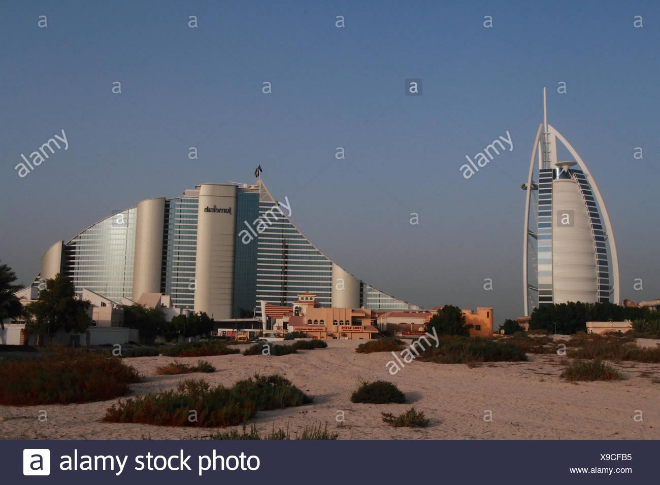 Aerial view of Sir bani Yas Island, Abu Dhabi, UAE. - Stock Image