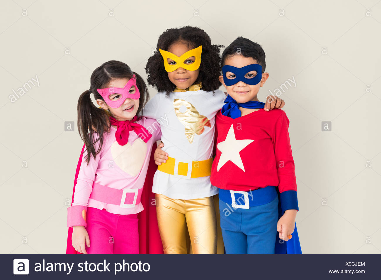 Superhero Adolescence Child Kid Expertise Concept - Stock Image