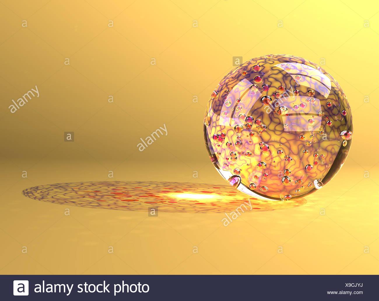 marble similar colors colours reflexion murmel glasmurmel bunt lichtreflexe - Stock Image