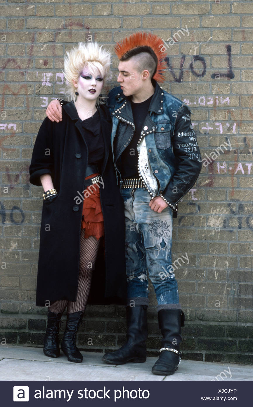 punk rock couple - Stock Image
