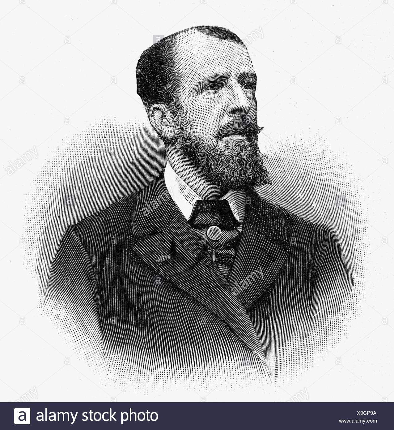 Deroulede, Paul, 2.9.1846 - 30.1.1914, French politician, poet, portrait, wood engraving, , Additional-Rights-Clearances-NA - Stock Image