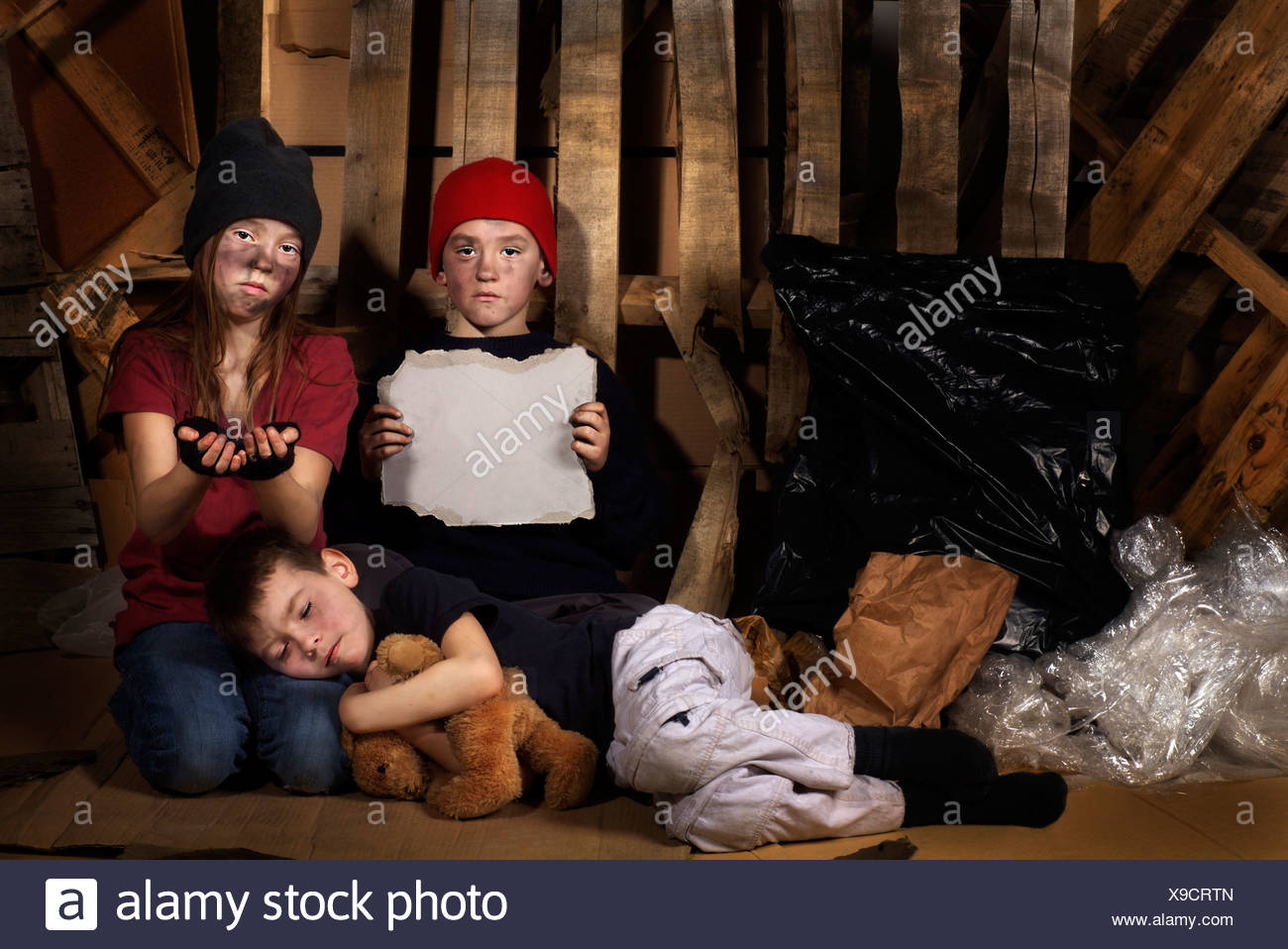 Impoverished children - Stock Image