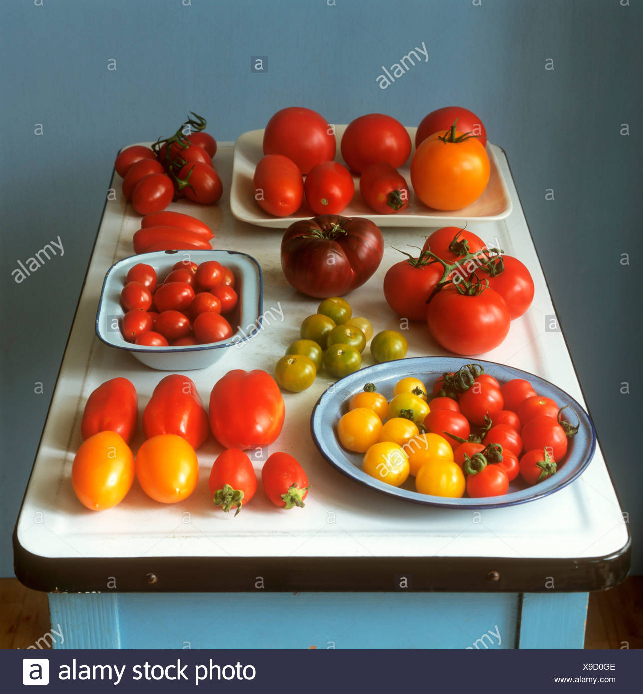 Still life with tomatoes - Stock Image