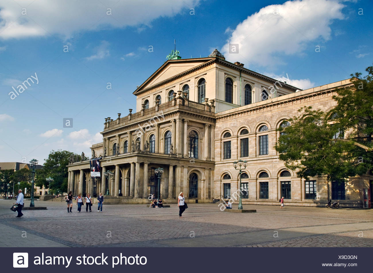 Hanover opera house, built from 1845-1852 by master builder Georg Ludwig Friedrich Laves, Hannover, Hanover, Lower Saxony - Stock Image