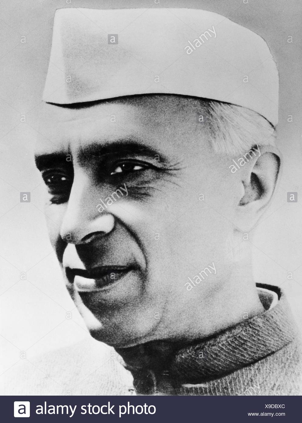 Nehru, Jawaharlal 'Pandit', 14.11.1889 - 27.5.1964, Indian politician, portrait, 1950s, Additional-Rights-Clearances-NA - Stock Image