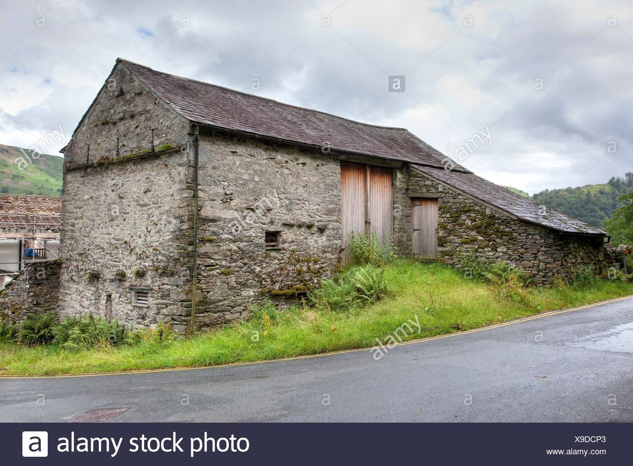 Traditional Stone Bank Barn Near Grasmere The Lake District Cumbria England