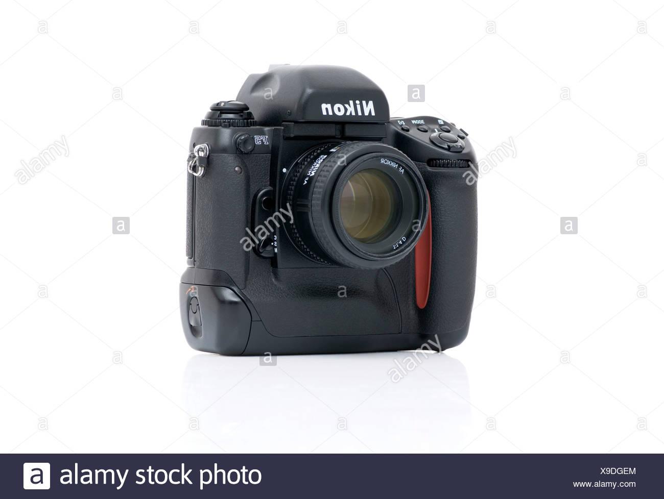 Nikon F5 professional reflex camera, 35mm format - Stock Image