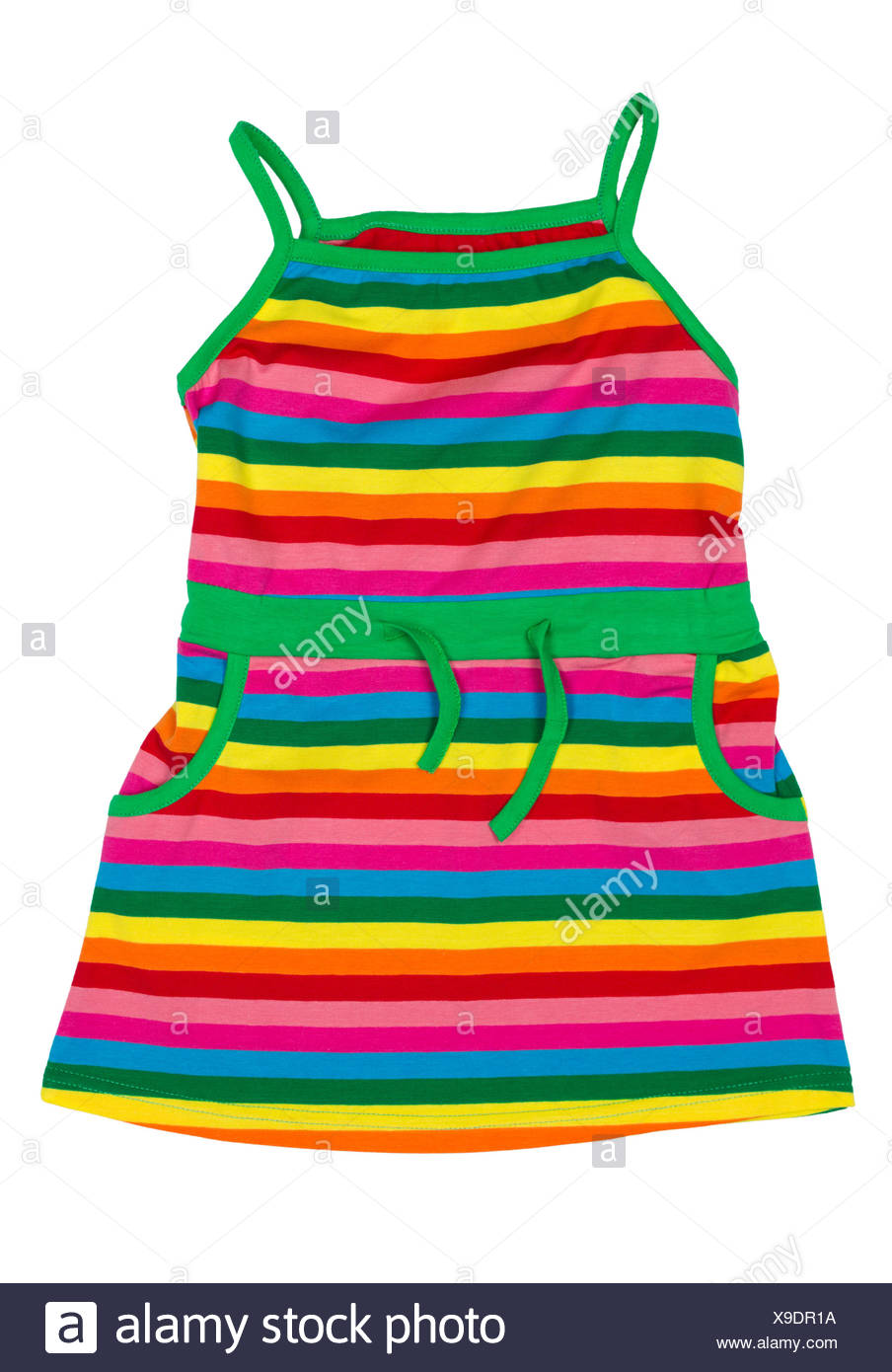 children's striped sundress - Stock Image
