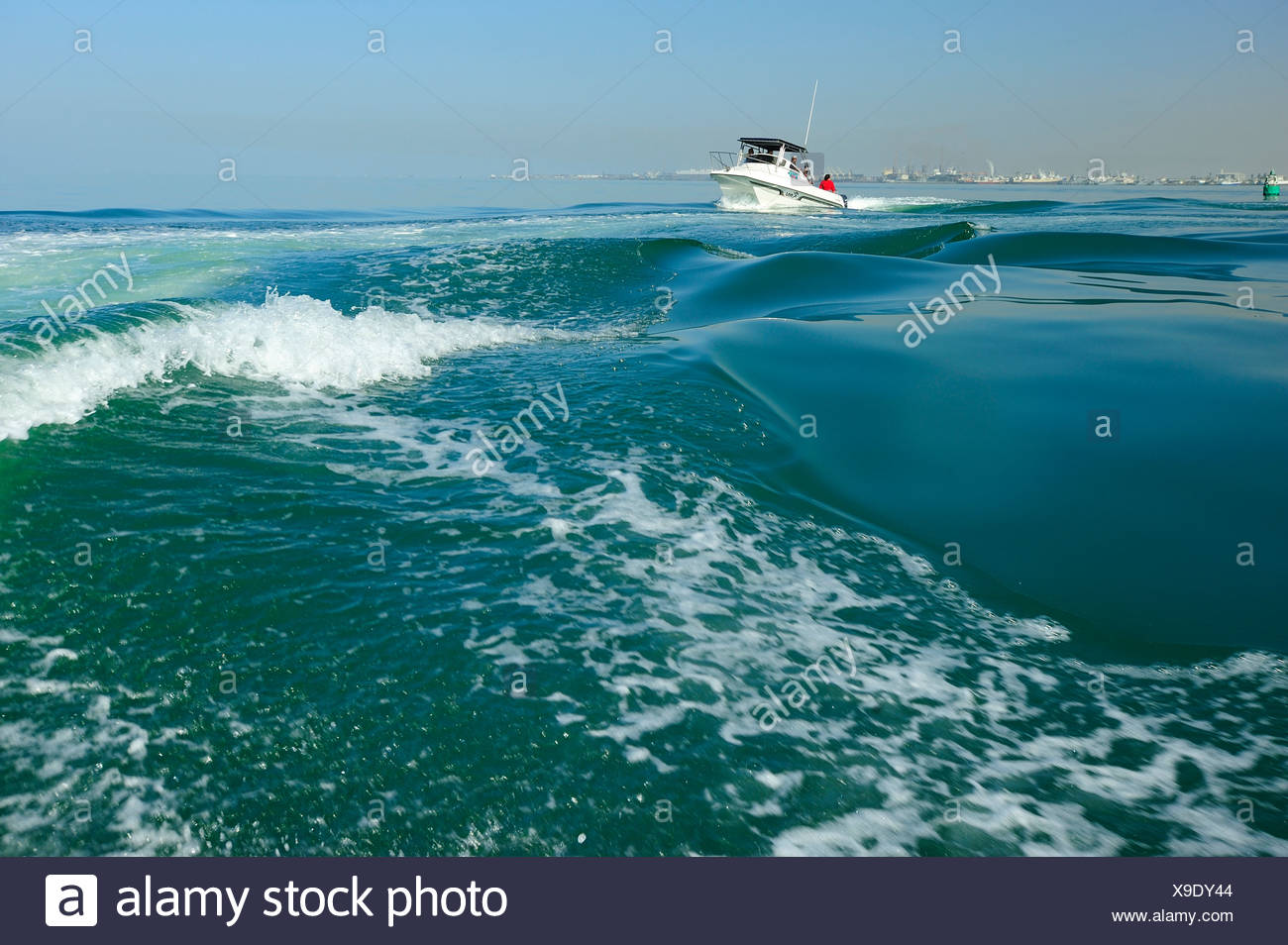 Africa, Namibia, boat, sea, waves, - Stock Image