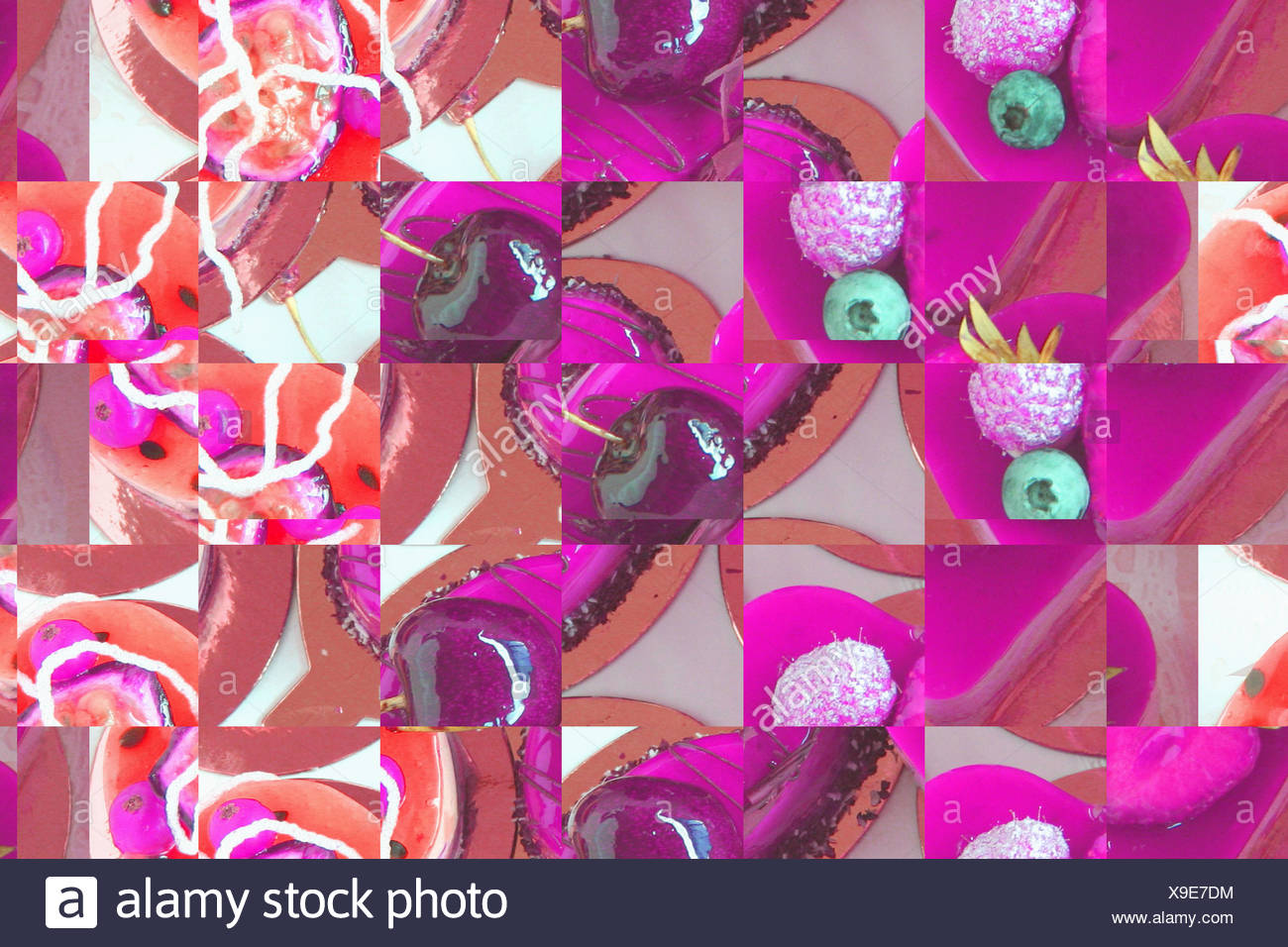 background-design, food-collage - Stock Image