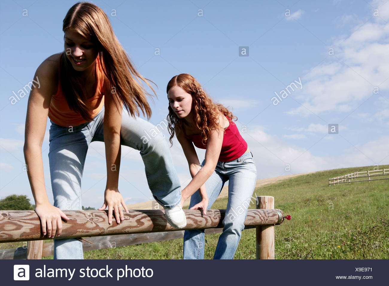 Remarkable, Young teen girls nature join