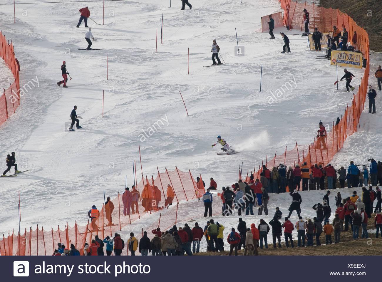 Benjamin Raich, Austria, FIS Ski Worldcup, Slalom men, Kandahar race, Garmisch-Partenkirchen, Bavaria, Germany - Stock Image