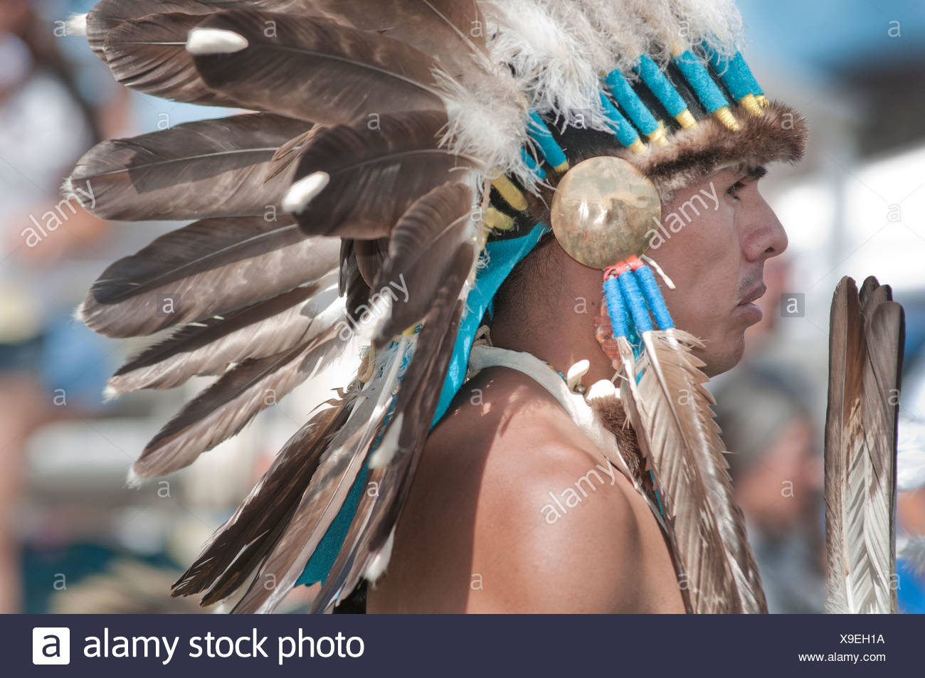 A Native American man from Pendelton Yakama Nation - Stock Image
