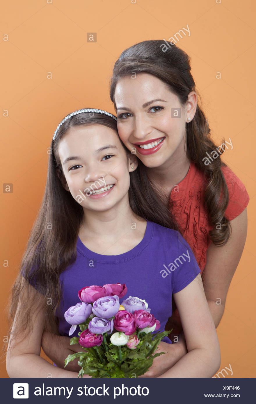 Portrait of mother and child - Stock Image