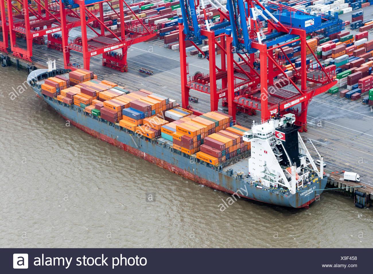 Containerterminal Stock Photo