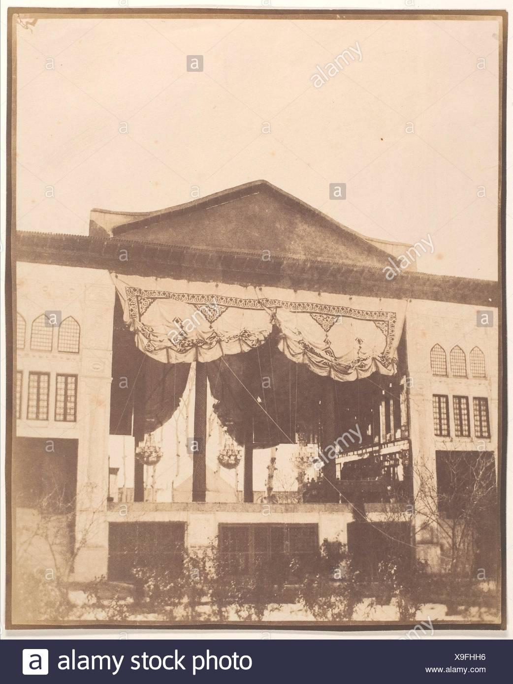 [Peacock's Throne Room, Teheran]. Artist: Luigi Pesce (Italian, 1818-1891); Date: 1858; Medium: Salted paper print from paper negative; - Stock Image
