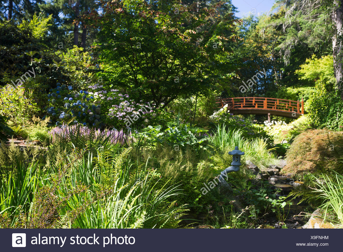 Located 12 kms north of downtown Victoria, the Horticultural Centre of the Pacific welcomes visitors to it's public gardens, cared for by volunteers, staff and students.  Victoria, Vancouver Island, British Columbia, Canada - Stock Image