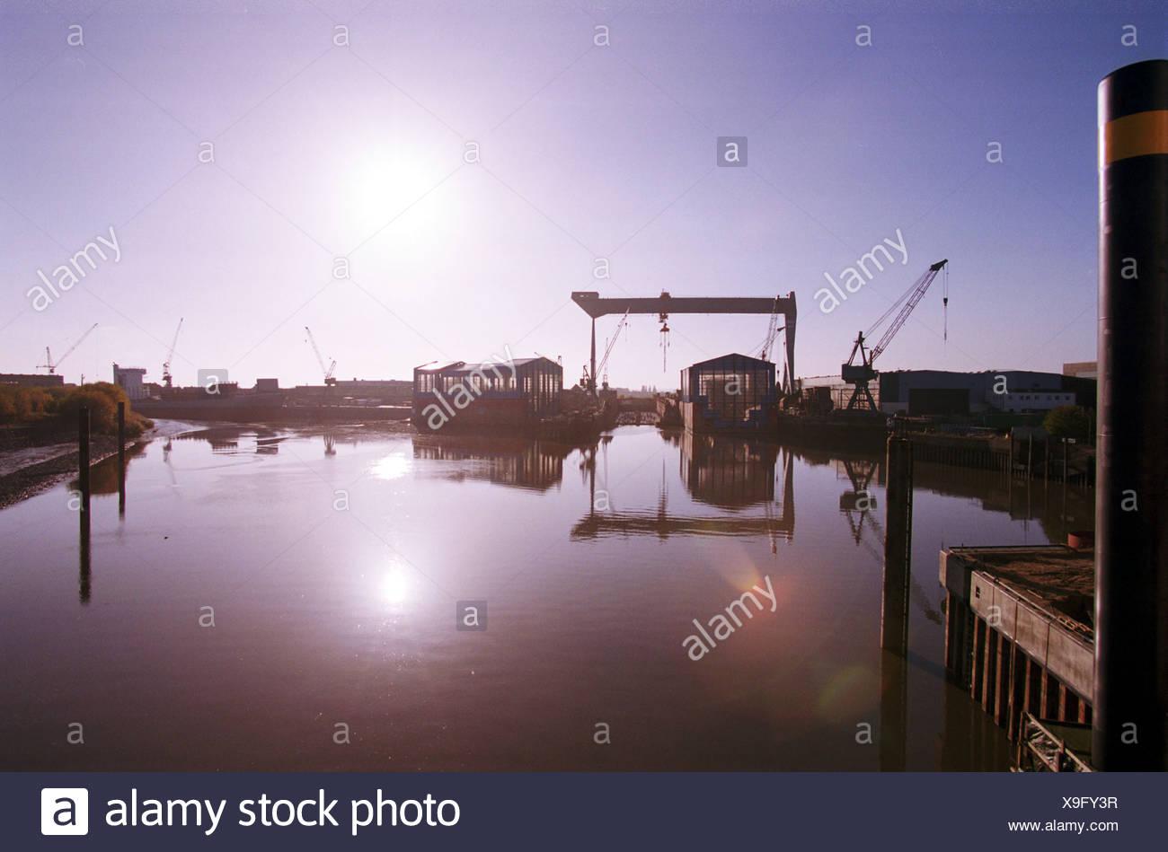 Cranz, Germany, Sietas shipyard - Stock Image