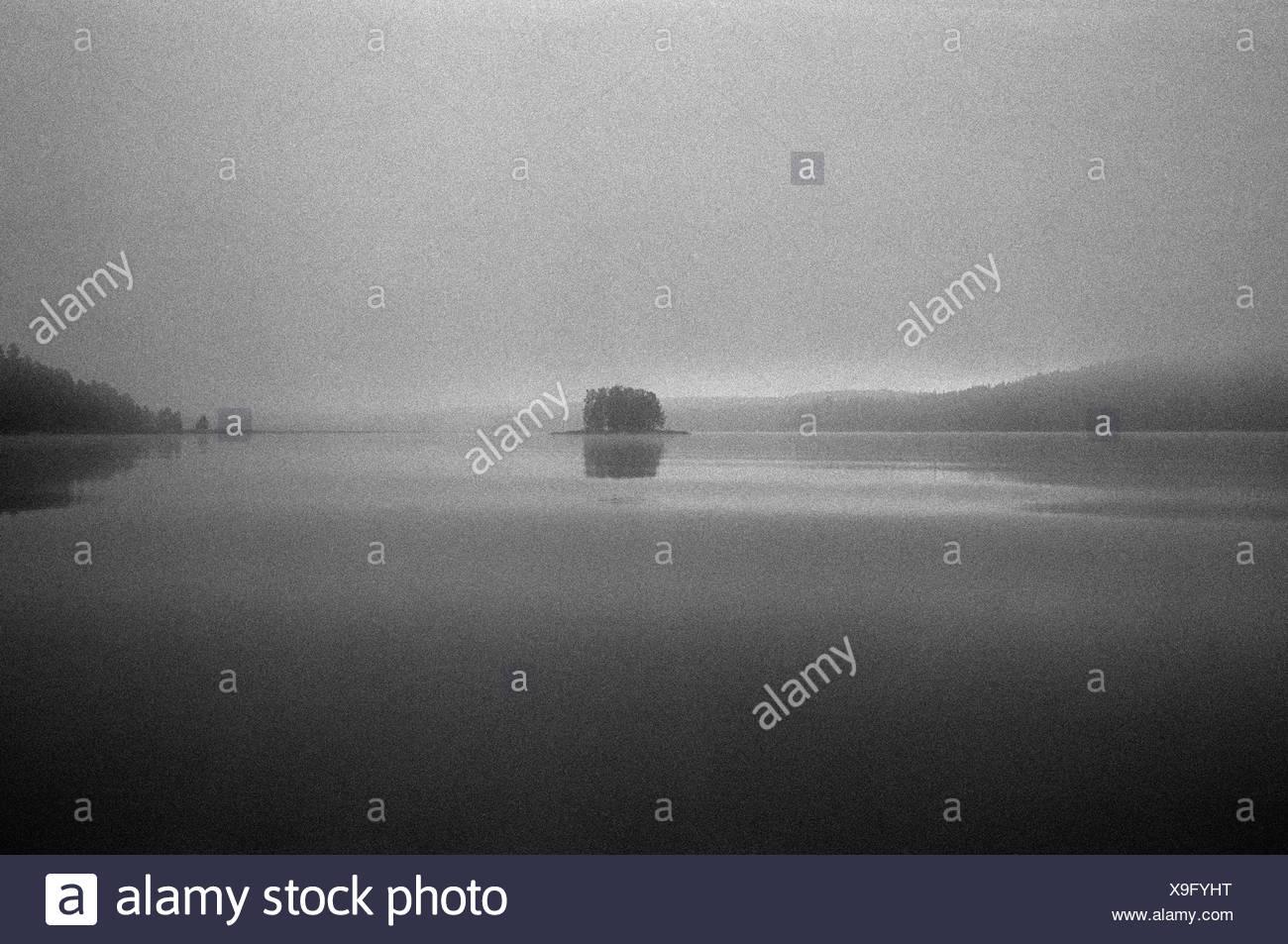 A small island, Dalarna, Sweden. - Stock Image