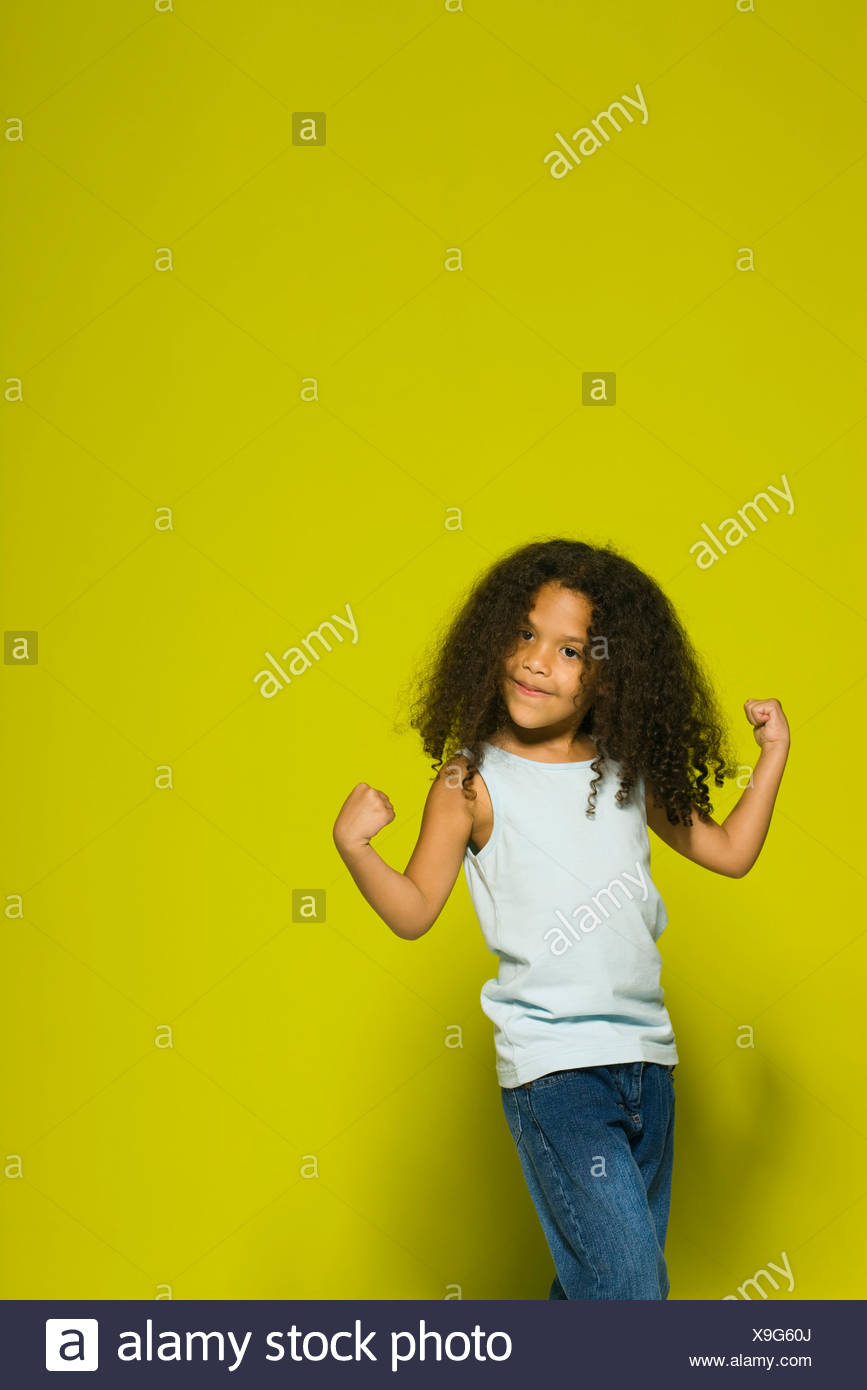 Girl little muscle Muscle Man