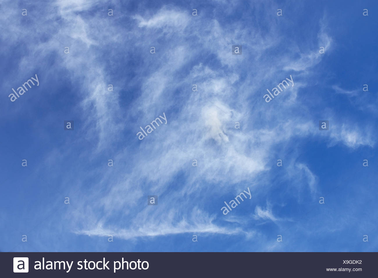 Abstract oblong clouds - Stock Image