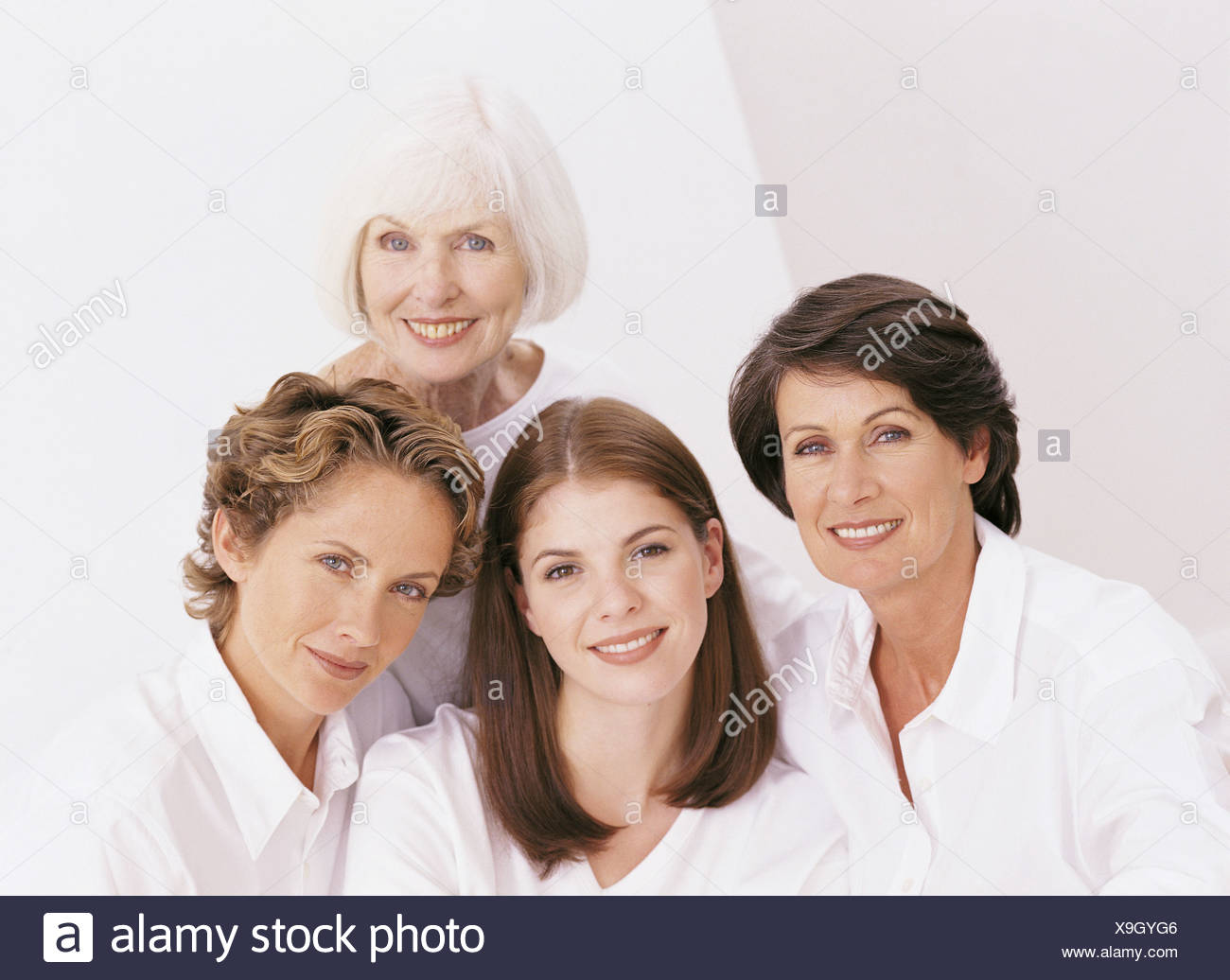 Portrait of four female family members - Stock Image