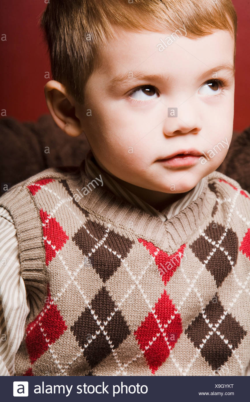 Portrait Of Toddler - Stock Image