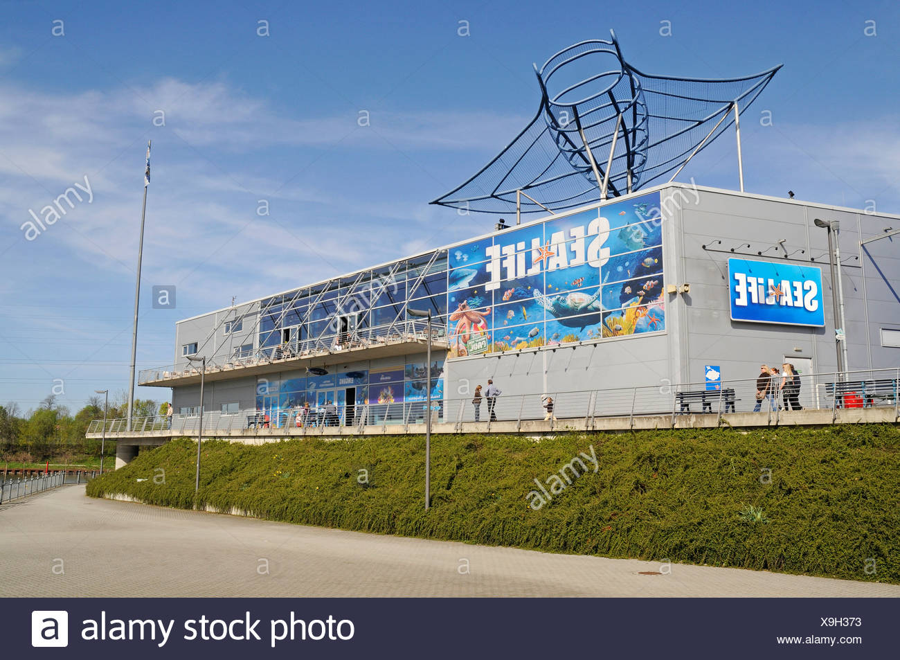 Sea Life, Sealife, fresh and salt water aquarium, shopping center, Neue Mitte district, Centro, Oberhausen, Ruhrgebiet area - Stock Image