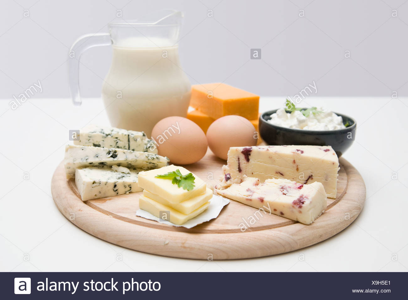 Protein food groups - Stock Image