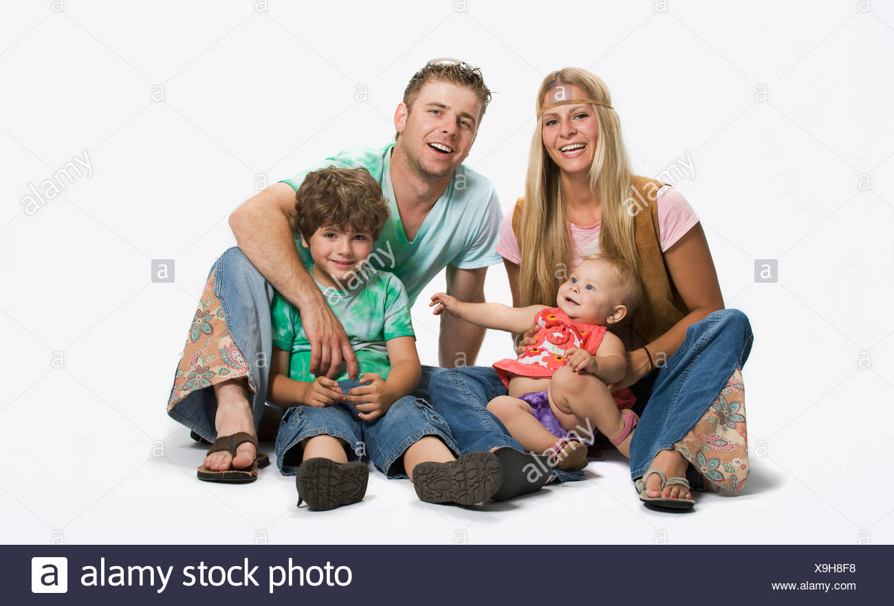 Family from the 1970's - Stock Image