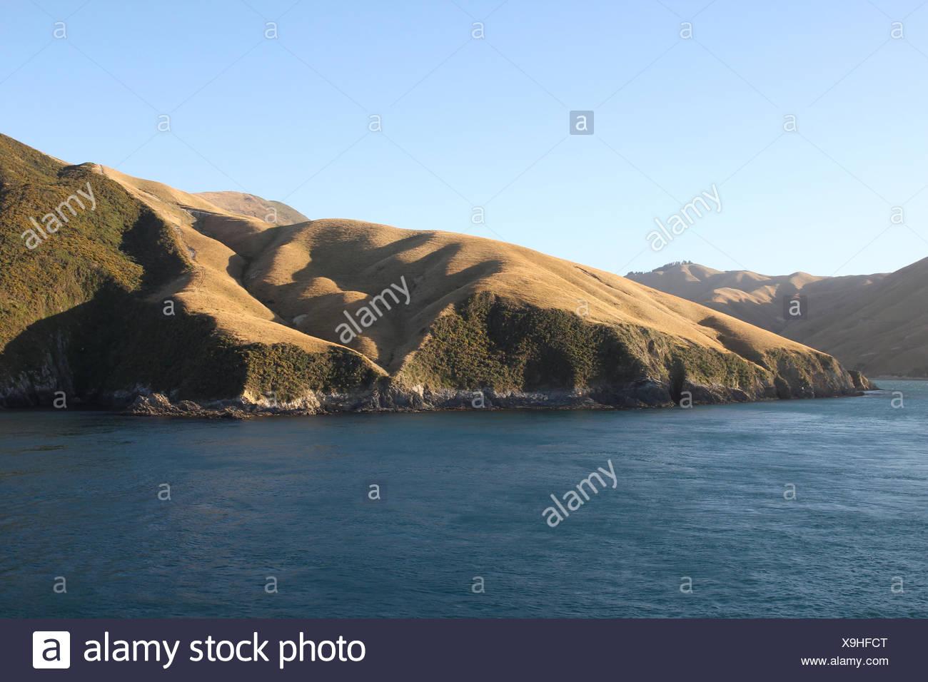 marlborough sounds, south island, new zealand - Stock Image