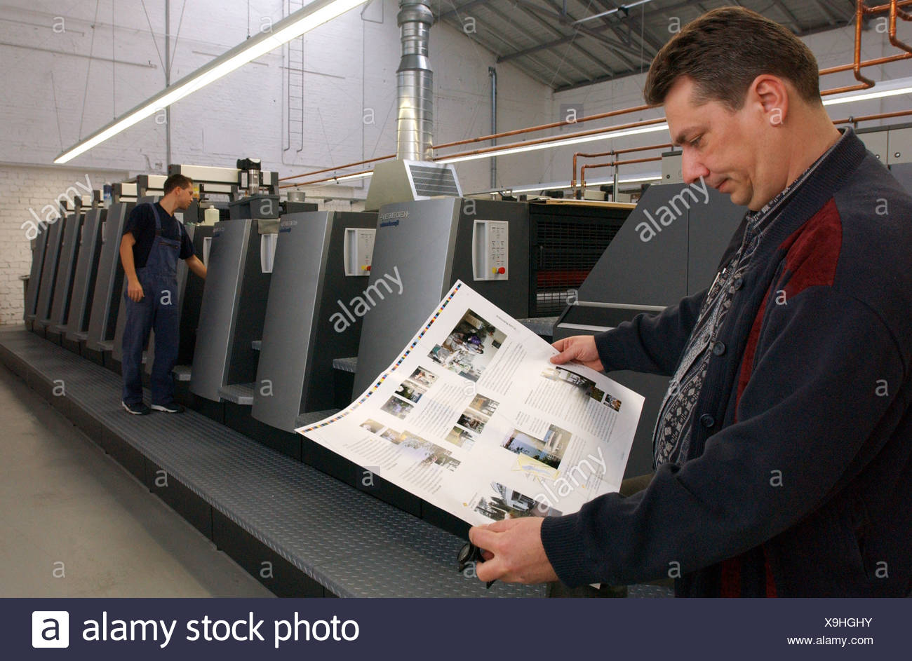 Modern offset printing plant in Berlin - Stock Image