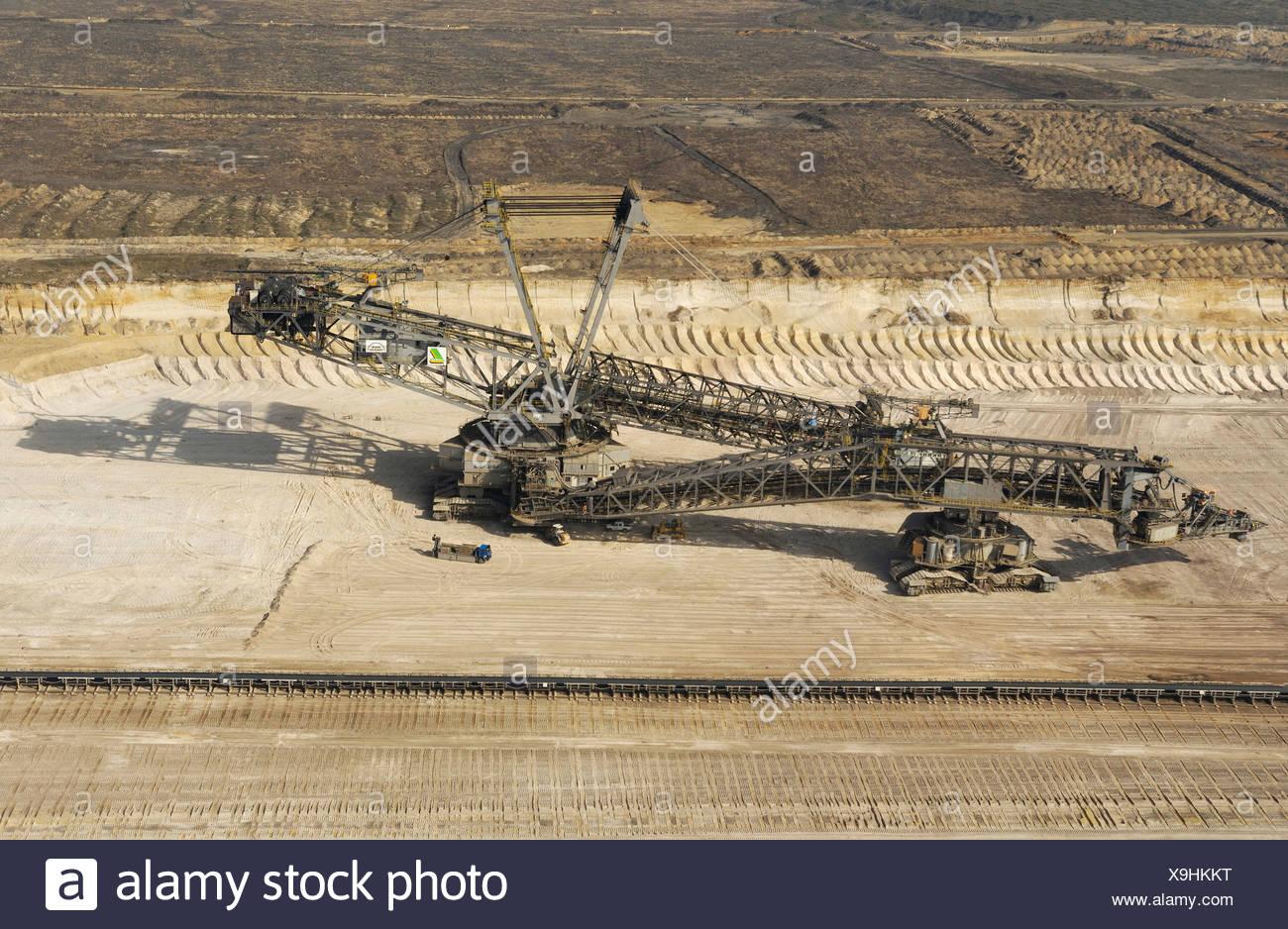 Bucket-wheel excavator used for surface mining Stock Photo