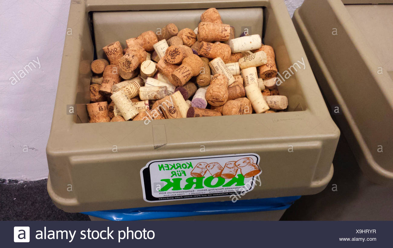 collection box for corks, Germany - Stock Image