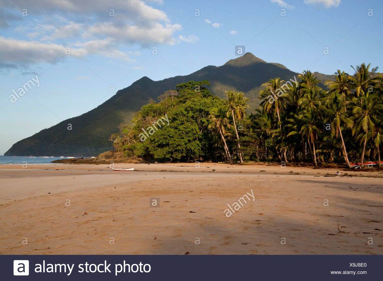 The deserted beach of Sabang, Palawan, Philippines, Asia - Stock Image