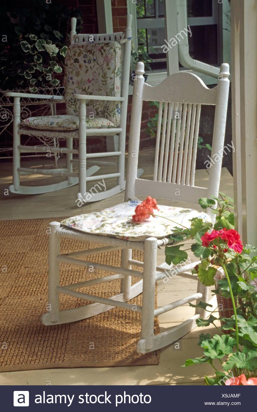Strange Rocking Chairs On Country Porch Stock Photo 281301343 Alamy Inzonedesignstudio Interior Chair Design Inzonedesignstudiocom
