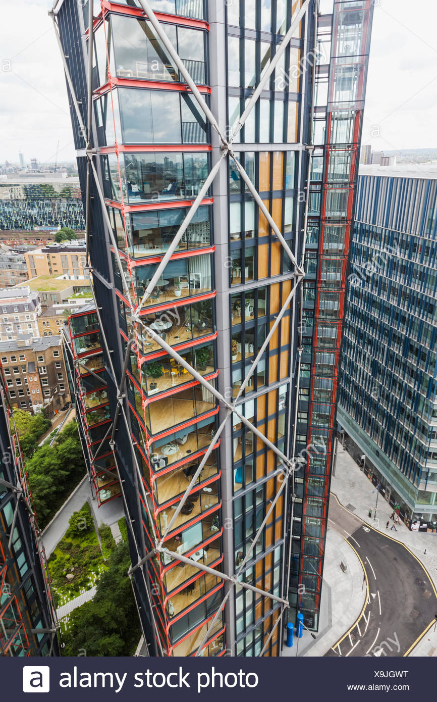 England, London, Bankside, Modern Highrise Apartments - Stock Image