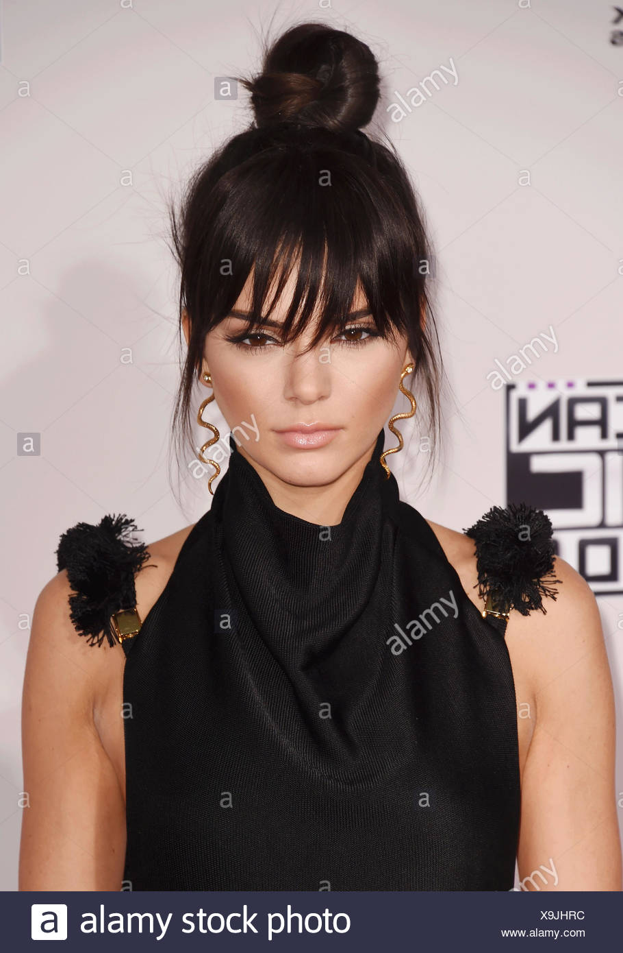 TV personality Kendall Jenner arrives at the 2015 American Music Awards at Microsoft Theater on November 22, 2015 in Los Angeles, California., Additional-Rights-Clearances-NA - Stock Image