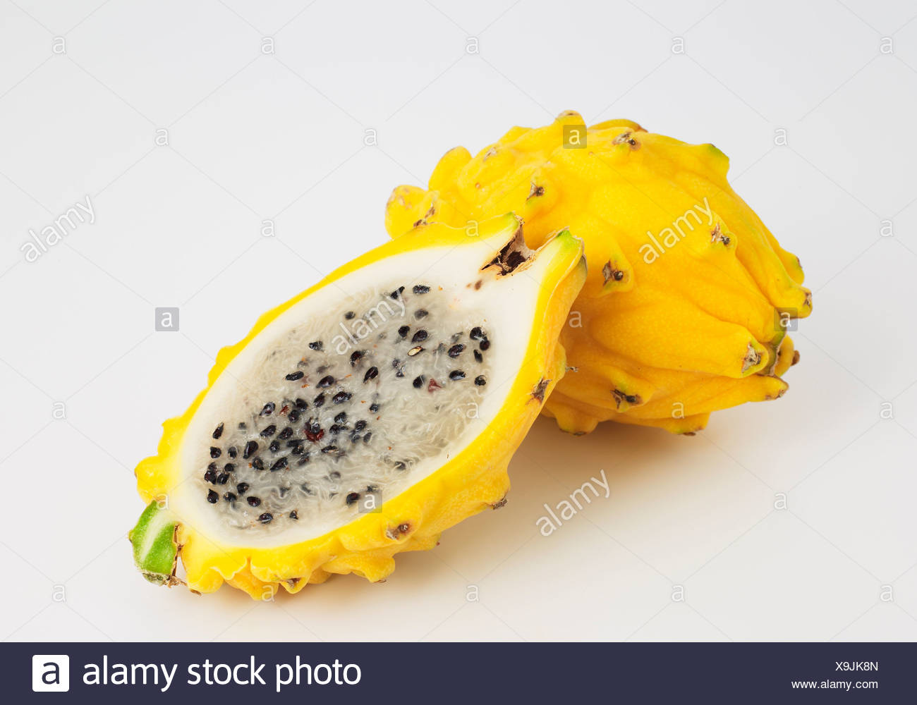 Dragonfruit Pitaya on white background - Stock Image