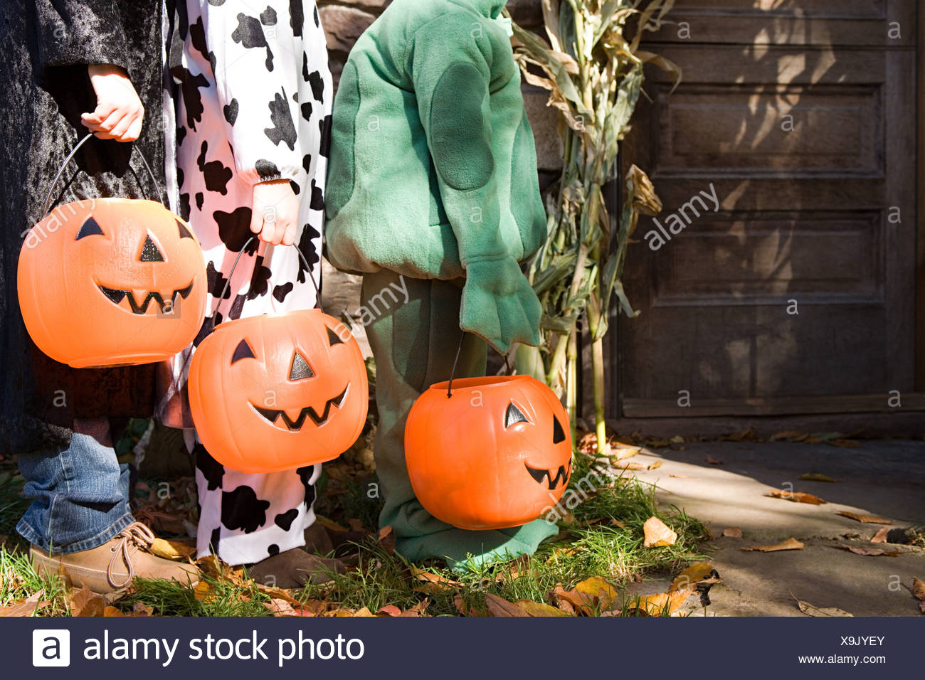 Trick or treaters - Stock Image